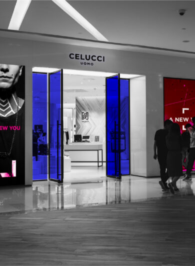 Celucci men's fashion jewellery brand retail shop in china branded by orange branding design dutch company