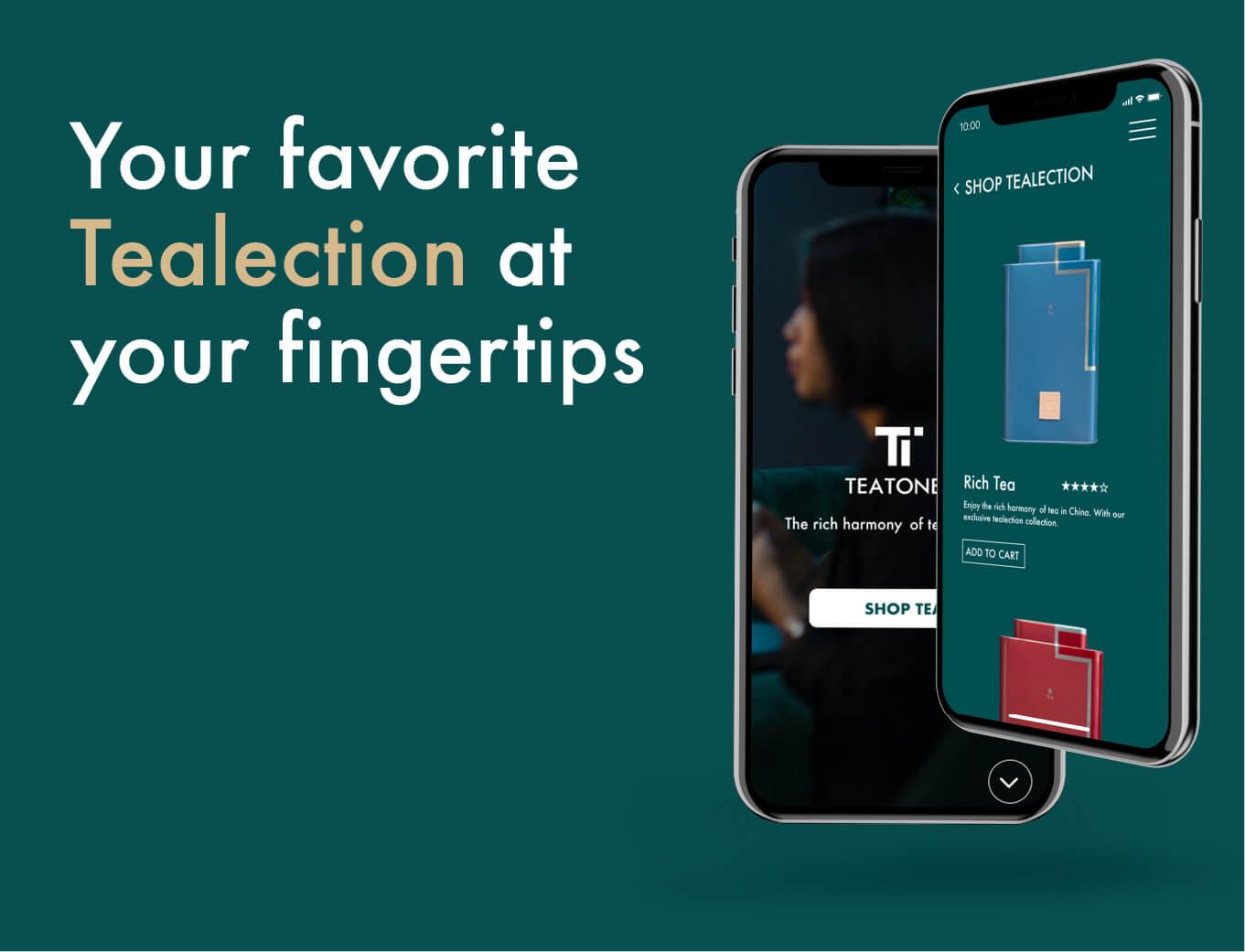 teatones retail chines shop mobile app activation