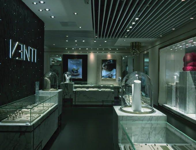 venti luxury women jewelry store interior design