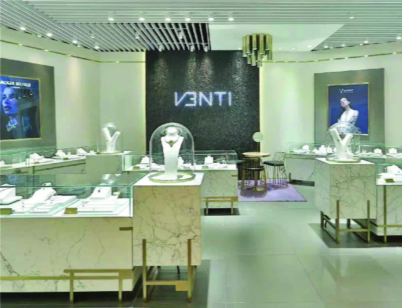 Venti premium women jewelry luxury brand retail store opening china