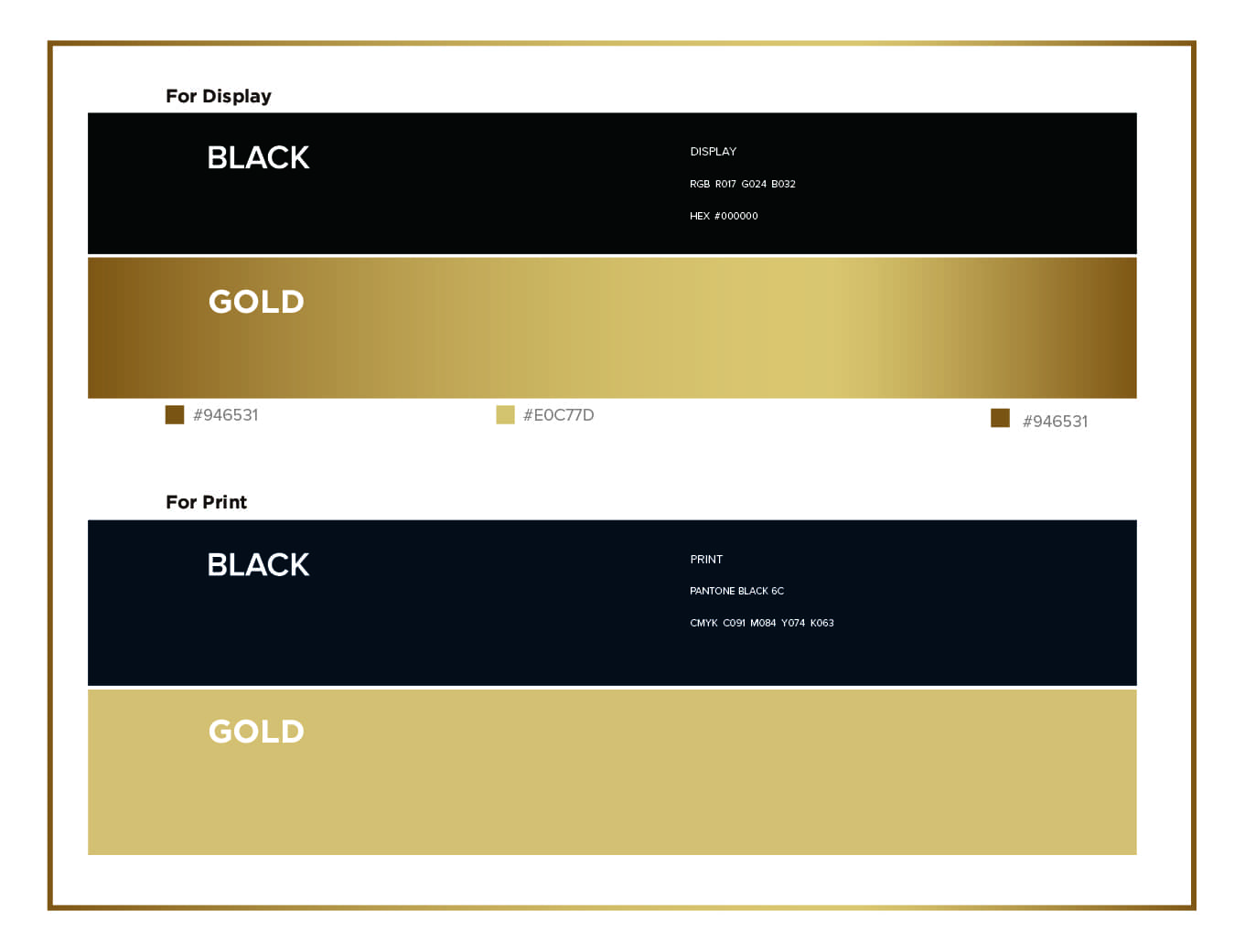 Venti premium women jewellery luxury brand color and typography variations in gold, black, white