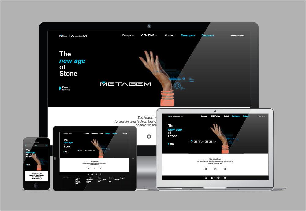 Orange branding Metagem Responsive website on various devices