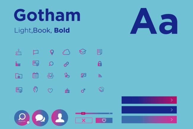 job app brand typography design