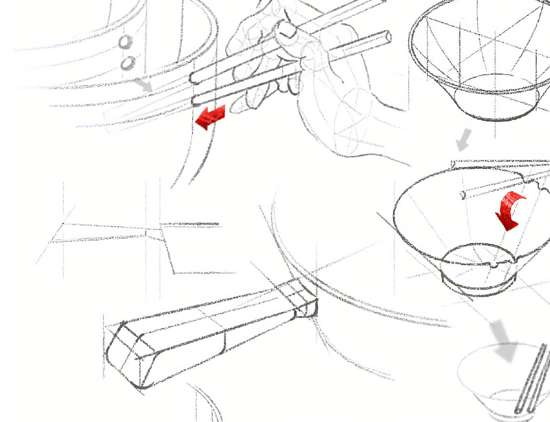 honcook cookware pan design Sketches