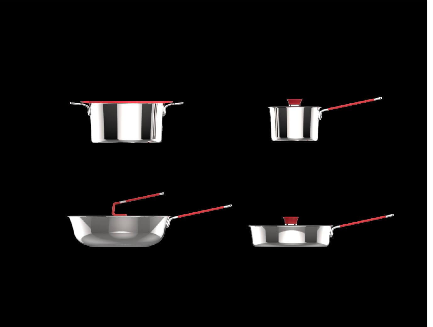 honcool industrial kitchenware smart pan series