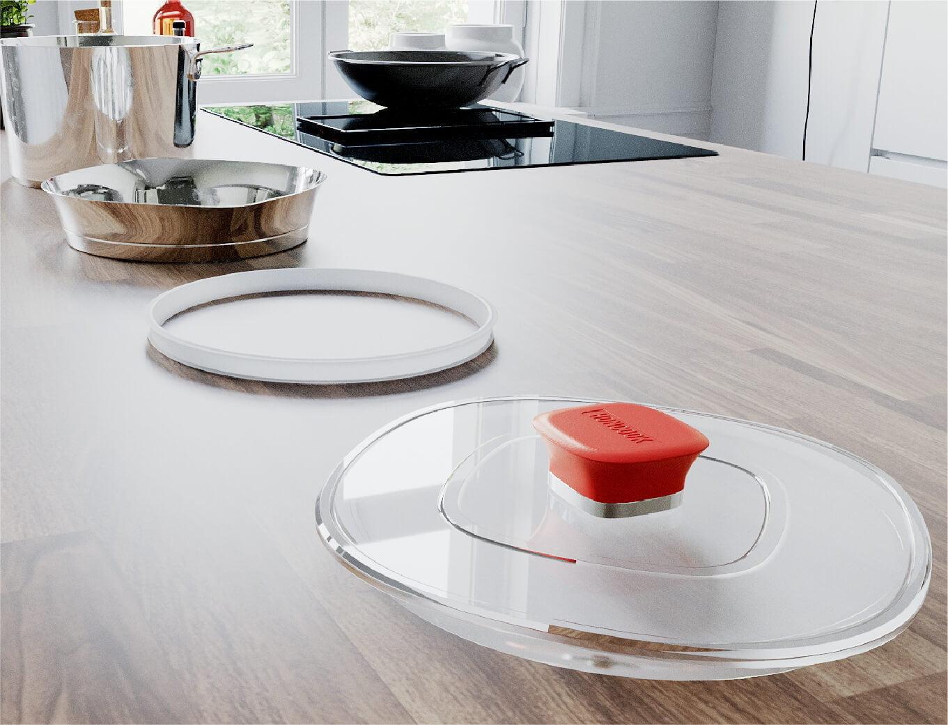 hancook smart pan lid in kitchen table