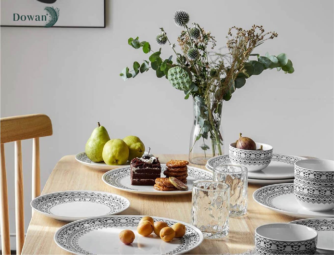 dowan design ceramics set showcase by orange branding