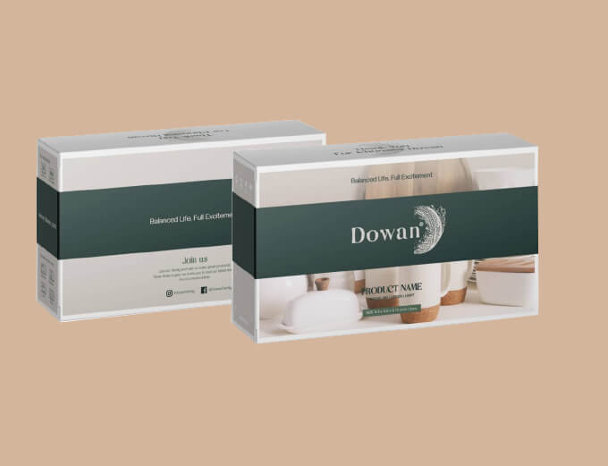 Dowan ceramics packaging showcase