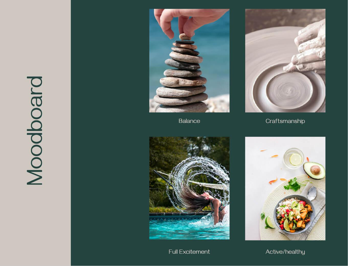 Dowan tableware brand identity moodboard