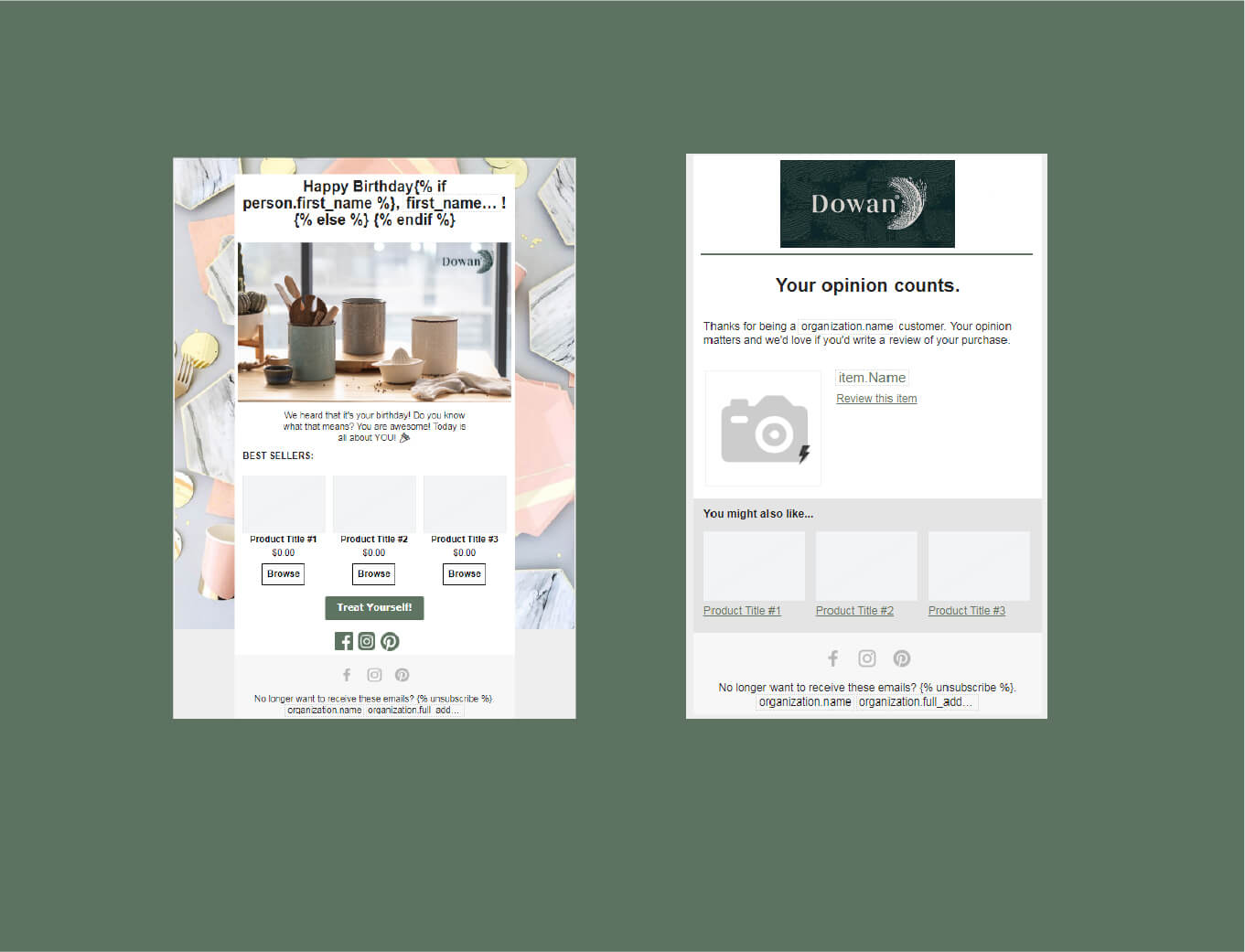 dowan web shop prototype
