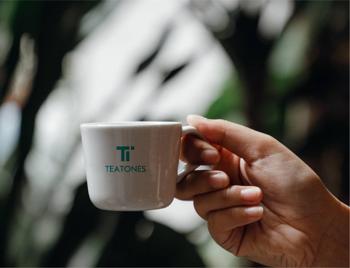 Orange branding Teatone Tea Retail Design Cutlery Logo