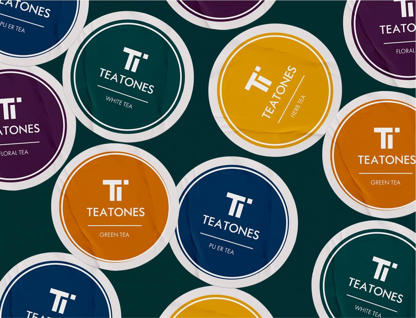 Orange branding Teatone Tea Retail logo tea packaging Design