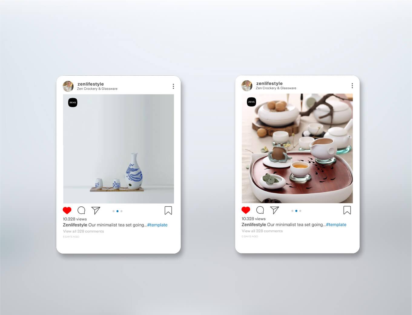Zens Tableware Brand Activation Instagram Post