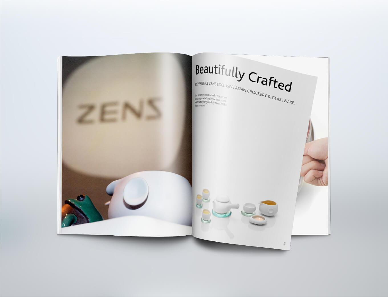 Zens Tableware Brand Activation magazine for zens