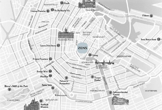 Zens Amsterdam showroom map