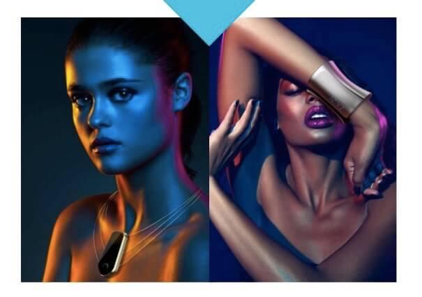 model metagem smart jewelry neckless and bracelet