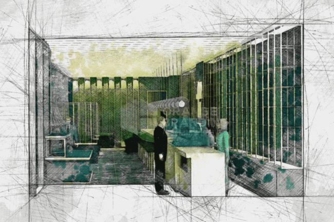 teatones reception design sketch