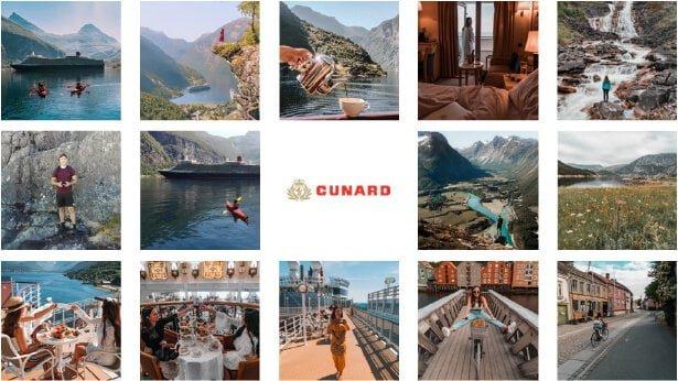 influencer destination trip images