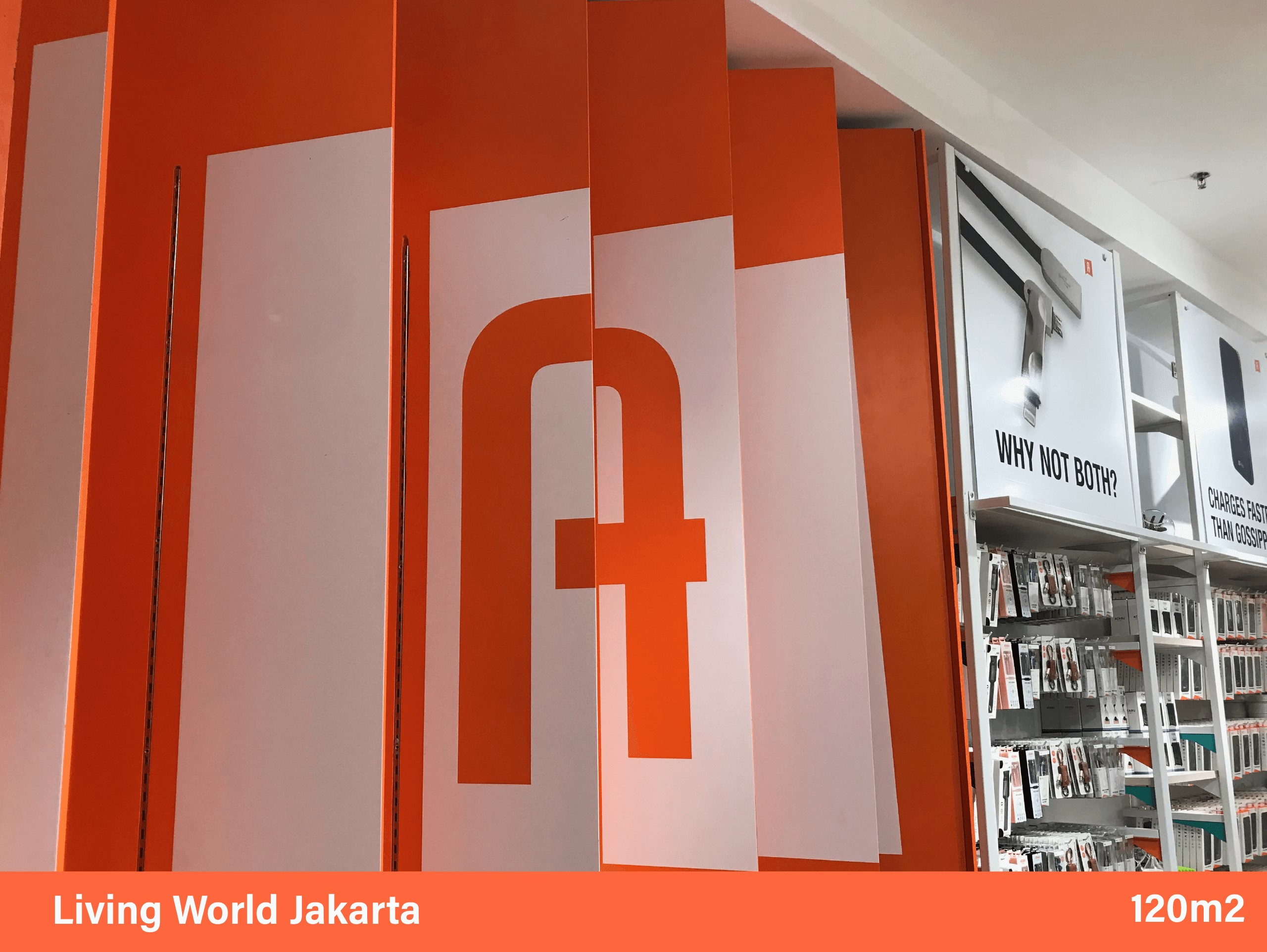 Ataru instore marketing banner and flag with designer logo